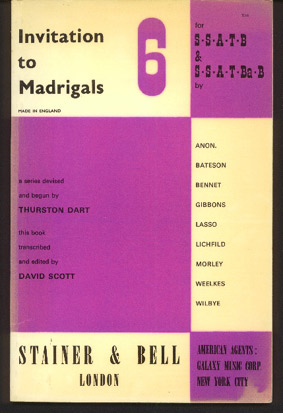 Image for Invitation to Madrigals Vol 6