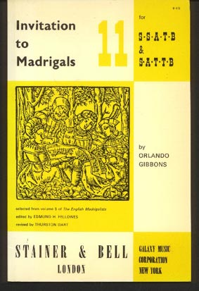 Image for Invitation to Madrigals Vols 11