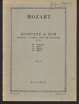 Image for Quintett a Dur (Klarinette, 2 Violinen, Viola Und Violoncello) K581 a Major