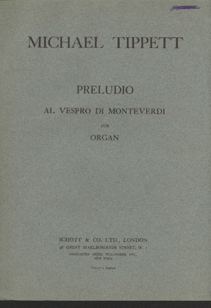 Image for Preludio Al Vespro Di Monteverdi for Organ