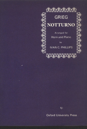 Image for Notturno. Arranged for Horn and Piano by Ivan C. Phillips