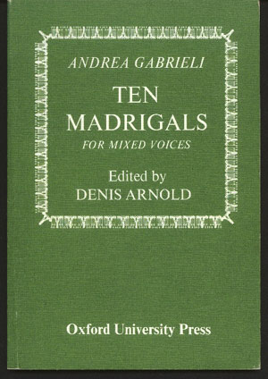 Image for Ten Madrigals for Mixed Voices