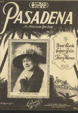 Image for Pasadena - An American Love Song