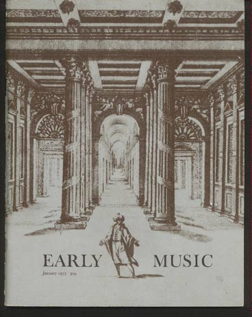 Image for Early Music Vol I No I January 1973