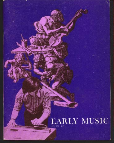 Image for Early Music Vol I No 3 July 1973