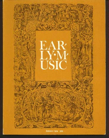 Image for Early Music Vol 2 No 1 January 1974