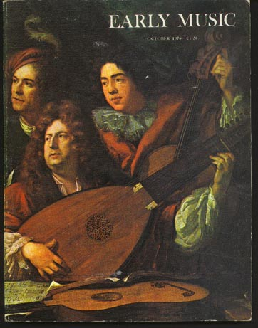 Image for Early Music Vol 4 No 4 October 1976