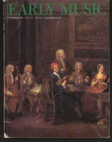 Image for Early Music Vol 13 No 4 November 1985