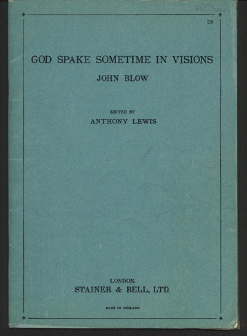 Image for God Spake Sometime in Visions