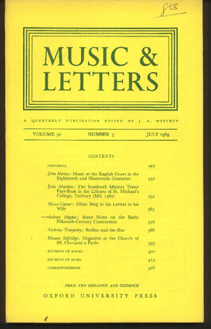 Image for Music & Letters. A Quarterly Publication. Volume 50