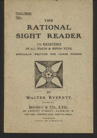 Image for The Rational Sight Reader. 175 Exercises in all Major & Minor Keys