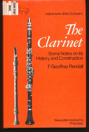 Image for The Clarinet: Some Notes on its History and Construction